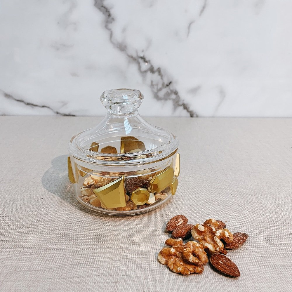 Mini Indian Gold Nut Storage Jar