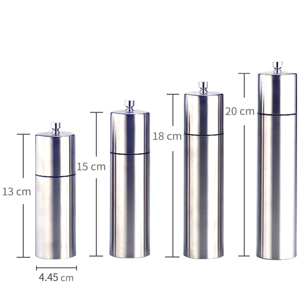 SS-02 Stainless steel pepper grinder-dimension