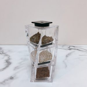 Stackable Spice Shaker for Cumin and Zataar