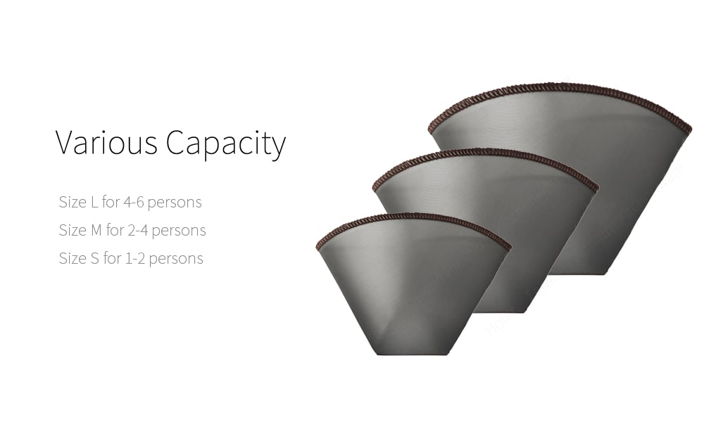 capacity of portable and foldable coffee filter-PS-DC05