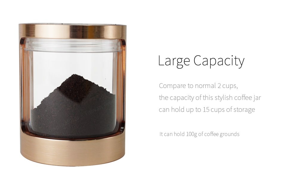clear jar can hold 100g coffee grounds