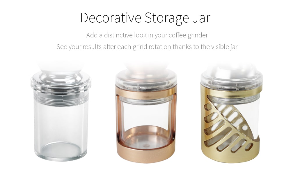 decorative storage visible jar for collecting coffee ground