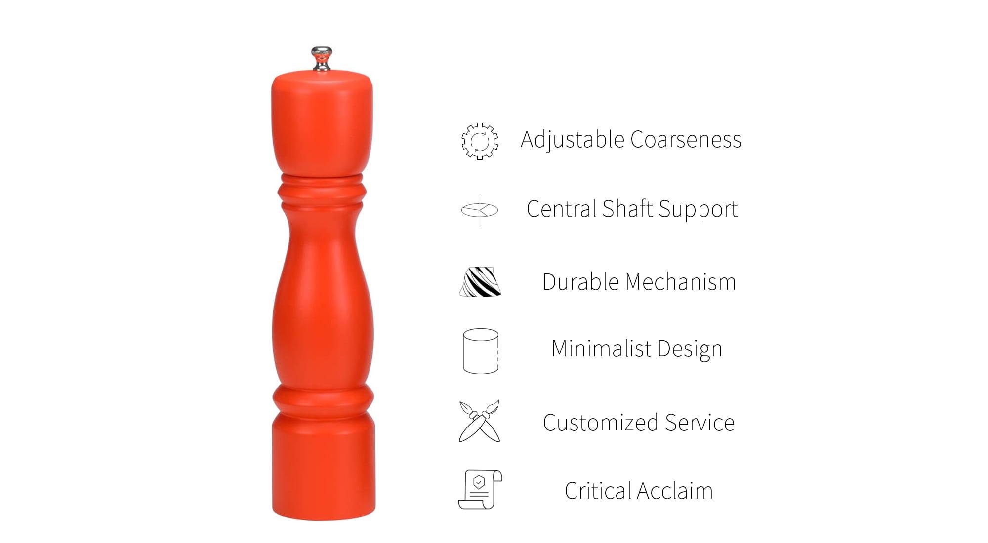 feature of holar baluster shaped salt and pepper grinder_HL-79
