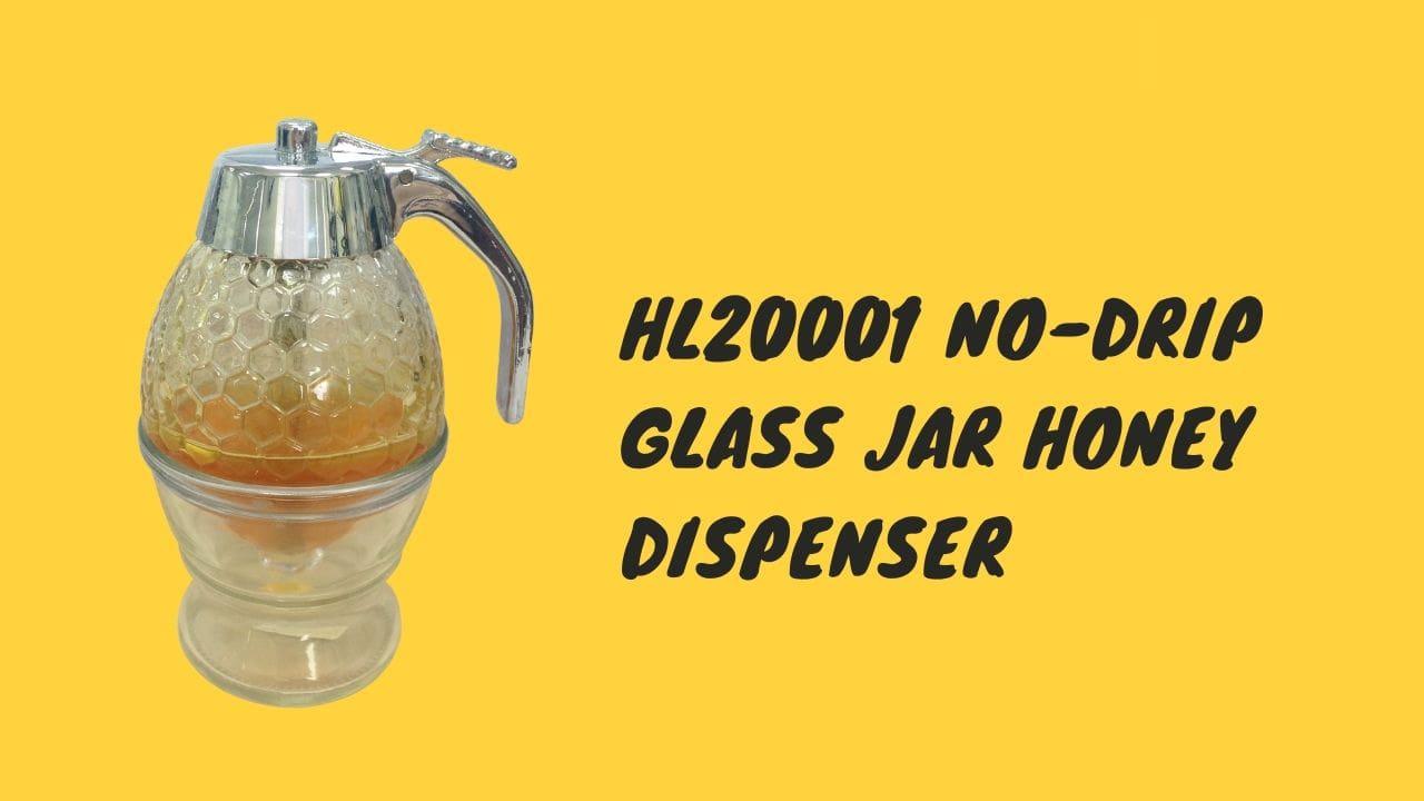 hl20001 glass jar honey dispenser cover
