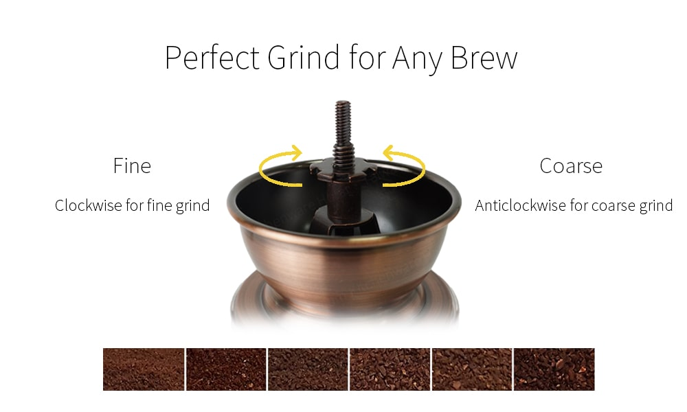 how to adjust classic hand coffee mill