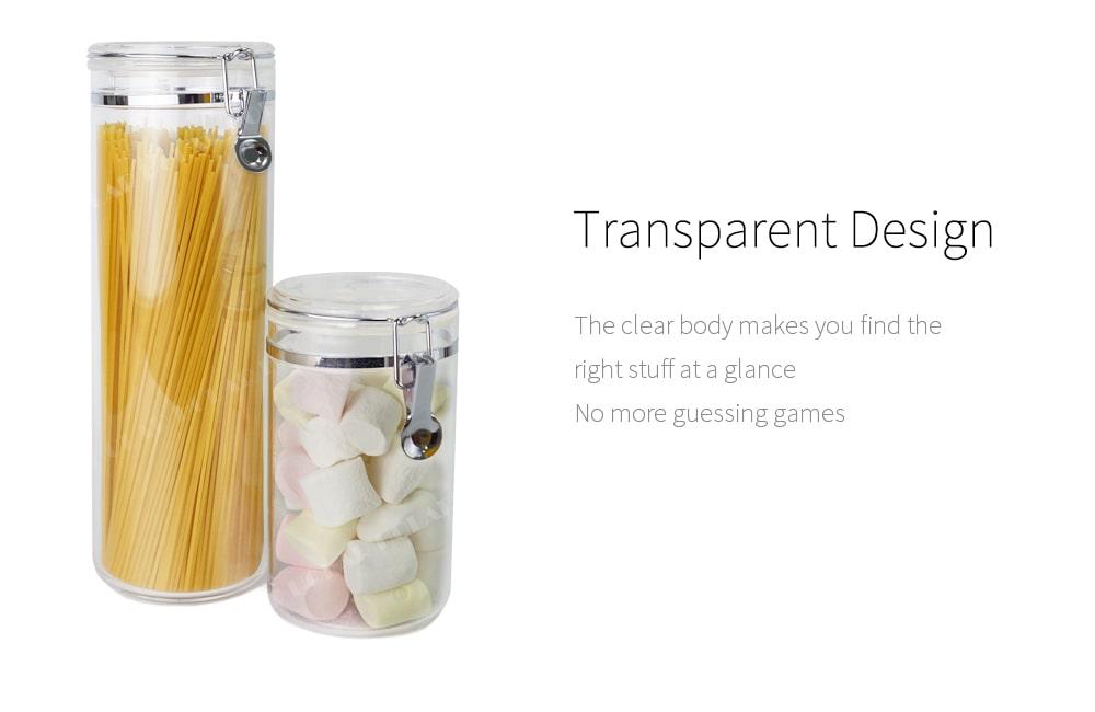 transparent body of jumbo food storage jar